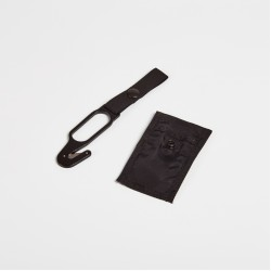 Hook knife black with black pocket