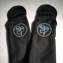 Carbondura Leg Pad Covers with Custom Color Logo
